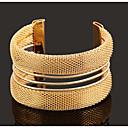 זול צמיד אופנתי-צמידי חפתים וינטאג' מסיבה עבודה יום יומי מתכווננת ציפוי זהב צמיד תכשיטים צבע מסך עבור