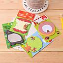 preiswerte Customized Karten-Waldtiere Muster selbstklebe Note (gelegentliche Farbe)