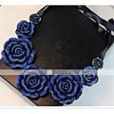 זול שרשרת אופנתית-בגדי ריקוד נשים שרשראות מחרוזת / Collar - שרף ורדים, פרח וינטאג', בוהמי, בוהו שרשראות עבור יומי, קזו'אל
