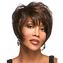 cheap Synthetic Wigs-Synthetic Wig Wavy Pixie Cut / With Bangs Synthetic Hair Side Part / With Bangs Brown Wig Women's Short Capless
