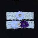 preiswerte Backformen-Spitze Modisch Hochzeitsstrumpfband  -  Strass Imitationsperle Blume Strumpfbänder