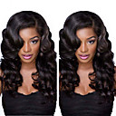 cheap Human Hair Wigs-Human Hair Lace Front Wig / Glueless Lace Front Wig Body Wave 120% Density Natural Hairline / African American Wig / 100% Hand Tied Women's Short / Medium Length / Long Human Hair Lace Wig