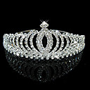 cheap Party Headpieces-Crystal / Rhinestone Tiaras / Headwear with Floral 1pc Wedding / Special Occasion Headpiece