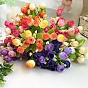 preiswerte Kunstblume-1 Ast Polyester Kunststoff Rosen Tisch-Blumen Künstliche Blumen