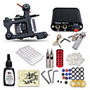 cheap Starter Tattoo Kits-Tattoo Machine Starter Kit - 1 pcs Tattoo Machines with 1 x 15 ml tattoo inks, Professional Mini power supply Case Not Included 1 cast iron machine liner & shader