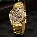 levne Vojenské hodinky-Pánské Hodinky s lebkou Náramkové hodinky Křemenný Nerez Zlatá S dutým gravírováním Analogové Přívěšky - Zlatá