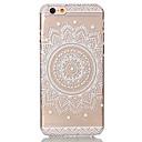 رخيصةأون مجوهرات الجسم-غطاء من أجل Apple iPhone 6 Plus / iPhone 6 شفاف / نموذج غطاء خلفي زهور قاسي الكمبيوتر الشخصي إلى iPhone 6s Plus / ايفون 6s / iPhone 6 Plus