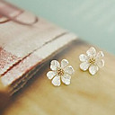cheap Keychains-Women's Stud Earrings - Flower, Daisy Silver For