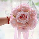 """ieftine Flori de Nuntă-Flori de Nuntă Buchete Nuntă Poliester Satin Spumă 9.06""""(Approx.23cm)"""