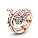 cheap Rings-Women's Statement Ring - Gold Plated, Alloy Fashion 6 / 7 / 8 For Wedding / Party / Anniversary / Rhinestone / Zircon