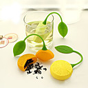 cheap Coffee and Tea-Orange Lemon Shape Tea Infuser Silicone Strainer Filter Bag Teapot Herb