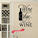 cheap Wall Stickers-Romance Fashion Shapes Food Holiday Words & Quotes Cartoon Fantasy Wall Stickers Words & Quotes Wall Stickers Fridge Stickers, PVC Home