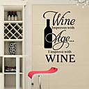 preiswerte Wand-Sticker-Romantik Mode Formen Lebensmittel Feiertage Worte & Zitate Cartoon Design Fantasie Wand-Sticker Worte & Zitate Wandaufkleber Kühlschrank