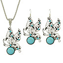 cheap Jewelry Sets-Women's Turquoise Jewelry Set - Turquoise Include Blue For Party / Daily / Casual / Earrings / Necklace