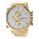 baratos Relógios Mecânicos-JUBAOLI Homens Relógio Militar / Relógio de Pulso Venda imperdível Aço Inoxidável Banda Amuleto Dourada / SSUO LR626