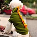 hesapli Köpek Kaseler ve Yemlikler-Kedi Köpek Kostümler Kıyafetler Kapüşonlu Giyecekler Köpek Giyimi Karton Hayvan Yeşil Polar Kumaş Kostüm Evcil hayvanlar için Cosplay