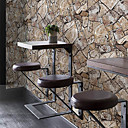 abordables Murales-Geométrica Papel pintado Retro Revestimiento de pared , PVC/Vinilo Material adhesiva requerida papel pintado , Revestimiento de paredes
