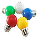 preiswerte Glühlampen-1pc 1 W 80 lm E26 / E27 LED Kugelbirnen G45 8 LED-Perlen SMD 2835 Party / Dekorativ / Weihnachtshochzeitsdekoration Weiß / Rot / Blau 220-240 V / 1 Stück / RoHs