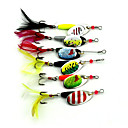 cheap Fishing Lures & Flies-6 pcs Hard Bait Fishing Lures Buzzbait & Spinnerbait Spoons Metal Sinking Sea Fishing Lure Fishing