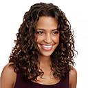 billige Blondeparykker med menneskehår-Ekte hår Helblonde Parykk Brasiliansk hår Krøllet Parykk 120% Hair Tetthet 12 tommers med baby hår Ombre-hår Naturlig hårlinje Afroamerikansk parykk 100 % håndknyttet Dame Medium Lengde