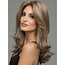 hesapli Sentetik Peruklar-Sentetik Peruklar Dalgalı Sentetik Saç Peruk Kadın's Orta Bonesiz