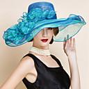 preiswerte Parykopfbedeckungen-Flachs Hüte mit Tüll 1 Hochzeit / Besondere Anlässe Kopfschmuck
