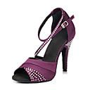 hesapli Salsa Ayakkabıları-İnce Topuk - Kumaş Görünümlü Yüzey - Salsa - Kadın's - Sigara Özelleştirilebilir