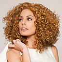 preiswerte Synthetische Perücken ohne Kappe-Synthetische Perücken Stil Kappenlos Perücke Blond # 27 Synthetische Haare Damen Blond Perücke Mittlerer Länge Kostüm-Perücke