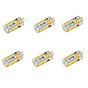 billige Interiørlamper til bil-YWXLIGHT® 6pcs 650 lm G4 LED-kornpærer T 72 leds SMD 3014 Varm hvit Kjølig hvit DC 24V AC 24V AC 12V DC 12 V