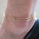 cheap Anklet-Anklet - Vintage, Party, Work Gold / Silver For Daily / Women's