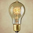 preiswerte Glühlampen-1pc 40W E27 E26/E27 E26 A60(A19) Weiß 2300 K Glühbirne Vintage Edison Glühbirne weißglühend AC110-240 Wechselstrom 110-220 Wechselstrom