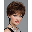 cheap Costume Wigs-women nice short natural straight wig stylish lady brown synthetic hair wigs