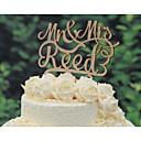 hesapli Anahtarlık Hediyelikleri-Pasta Üstü Figürler Kişiselleştirilmiş Klasik Çift / Kalpler Kart Kağıdı Düğün / Yıldönümü / Gelin Duşu SarıÇiçek Teması / Klasik Tema /