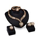 رخيصةأون أطقم المجوهرات-للمرأة حجر الراين مجموعة مجوهرات - تتضمن ذهبي من أجل زفاف / حزب