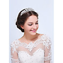 cheap Party Headpieces-Sterling Silver Alloy Tiaras 1 Wedding Special Occasion Casual Headpiece