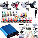 cheap Tattoo Ink-Tattoo Machine Professional Tattoo Kit - 4 pcs Tattoo Machines, Professional Mini power supply Case Not Included 4 steel machine liner &