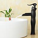 povoljno Slavine za umivaonik-Kupaonica Sudoper pipa - Waterfall Lakirana bronca Slavine s tri otvora One Hole Jedan Ručka jedna rupa