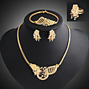cheap Jewelry Sets-Jewelry Set - Cubic Zirconia Statement, Vintage, Party Include Gold For Party / Special Occasion / Anniversary / Earrings / Necklace