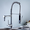 cheap Kitchen Faucets-Kitchen faucet - Contemporary Chrome Pull-out/­Pull-down Deck Mounted