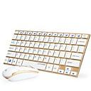 abordables Juegos de Teclado y Ratón-Sin Cable Combo de teclado de mouse Mini Batería AA oficina teclado