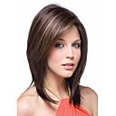 Χαμηλού Κόστους Συνθετικές περούκες χωρίς σκουφί-Συνθετικές Περούκες Ίσιο Ombre Συνθετικά μαλλιά Ombre Περούκα Γυναικεία Μεσαίο Χωρίς κάλυμμα Ουράνιο Τόξο