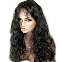 olcso Emberi hajból készült parókák-Emberi haj Csipke korona, szőtt / Tüll homlokrész / Csipke Paróka Hullámos haj Paróka 130% / 150% Természetes hajszálvonal / Afro-amerikai paróka / 100% kézi csomózású Női Rövid / Közepes / Hosszú