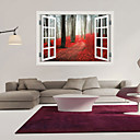 preiswerte Wand-Sticker-Dekorative Wand Sticker - 3D Wand Sticker Landschaft / Romantik / Mode Wohnzimmer / Schlafzimmer / Badezimmer