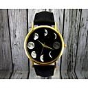 abordables Relojes de Moda-Mujer damas Reloj de Pulsera Cuarzo Fase lunar Piel Banda Analógico Moda Elegante Negro / Marrón - Negro Marrón