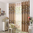cheap Curtains Drapes-Rod Pocket Grommet Top Tab Top Double Pleat Pencil Pleat Two Panels Curtain Designer Country Modern Neoclassical Mediterranean Rococo