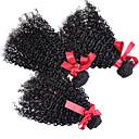 זול פתרון חפיסה אחת-3 חבילות שיער ברזיאלי מתולתל / אפרו / Kinky Curly שיער אנושי טווה שיער אדם שוזרת שיער אנושי תוספות שיער אדם / קינקי קרלי
