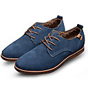 cheap Men's Oxfords-Men's Leather Shoes Suede Spring / Fall Comfort Oxfords Slip Resistant Black / Brown / Blue / Party & Evening / Suede Shoes / Novelty Shoes
