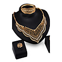 cheap Historical & Vintage Costumes-Synthetic Diamond Jewelry Set - Cubic Zirconia, Imitation Diamond Luxury, Vintage, Party Include Gold For / Earrings / Necklace