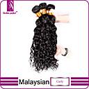 preiswerte Echthaar Strähnen-3 Bündel Malaysisches Haar Locken Klassisch 10A Unbehandeltes Haar Menschenhaar spinnt Menschliches Haar Webarten Haarverlängerungen