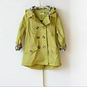 preiswerte Kleider für Mädchen-Mädchen Kapuzenpullover / Jacke & Mantel / Trenchcoat einfarbig Baumwollmischung Winter / Herbst Grün